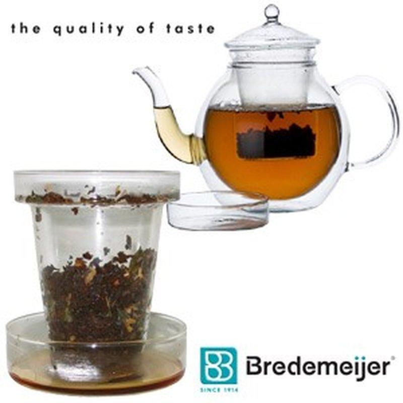 DUO Tassen Tee-Filter ´Roma´ aus Glas mit Deckel / Ablage