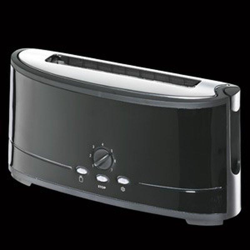 2-Scheiben Längs-Schlitz Toaster aus Edelstahl, Schwarz