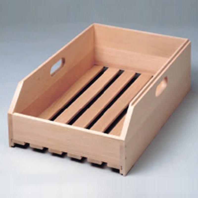 Stapelbare Obst- und Gemüse-Kiste aus Buchen-Holz