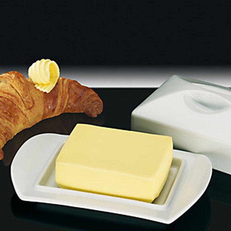 Butter-Dose ´Paris´ aus Porzellan für 1/2 Pfund Butter