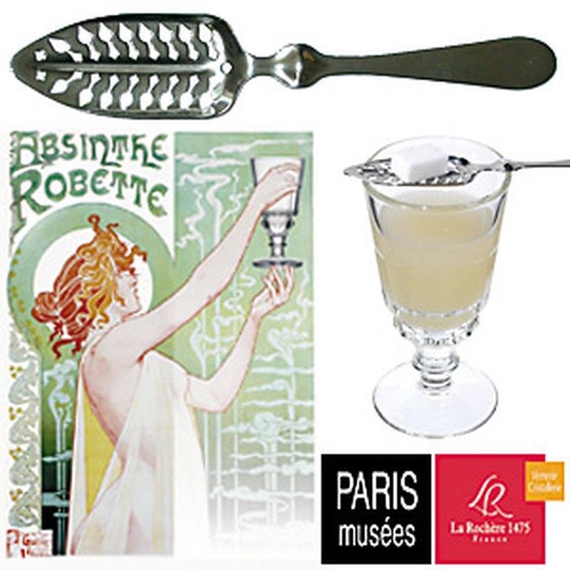 La Rochère Replika ´Verre á Absinthe´ Absinth-Löffel und Zucker-Zange