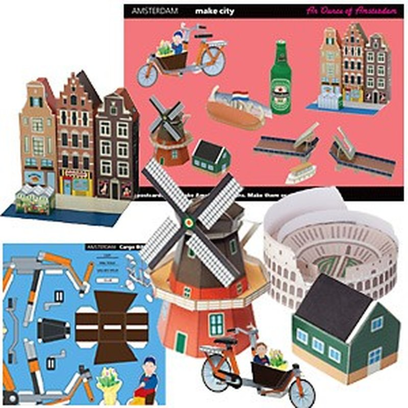 Postkarten-Bastel-Set ´Make City - Europa 2´
