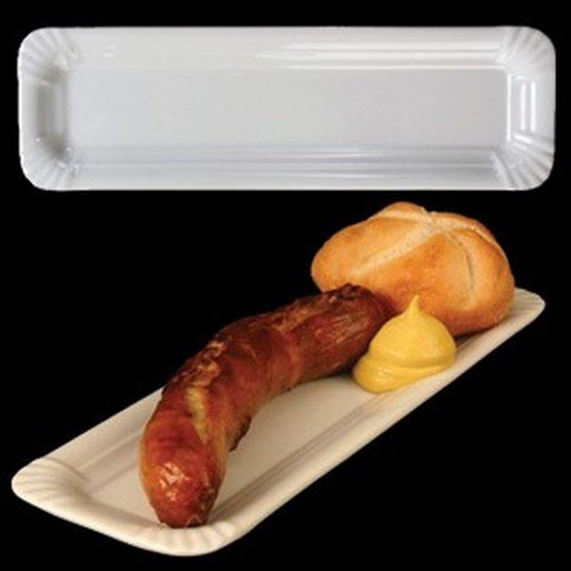 Bratwurst Teller / Platte aus Porzellan