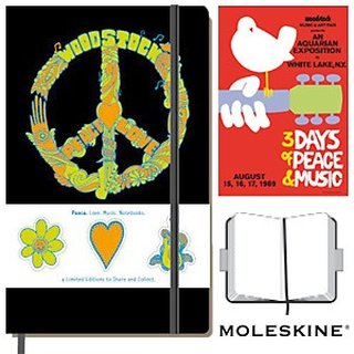 Moleskine Woodstock Notizbuch Peace A5 blanko, Limited Edition