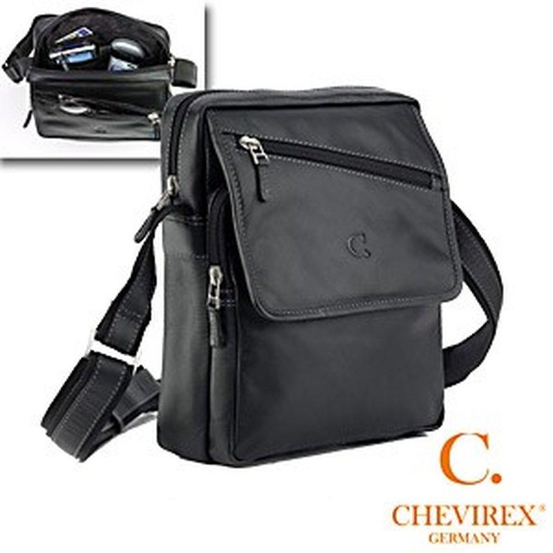 Chevirex Leder Herren-Tasche Hoch mit Tragegurt