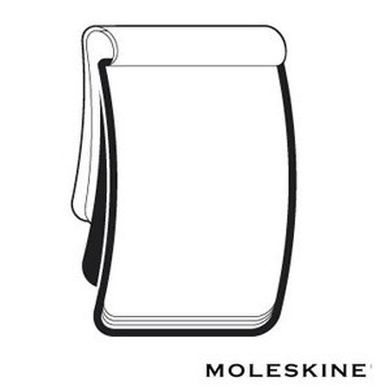 2er Set Moleskine Volant Blanko Notizblock 18x23cm, Softcover Schwarz