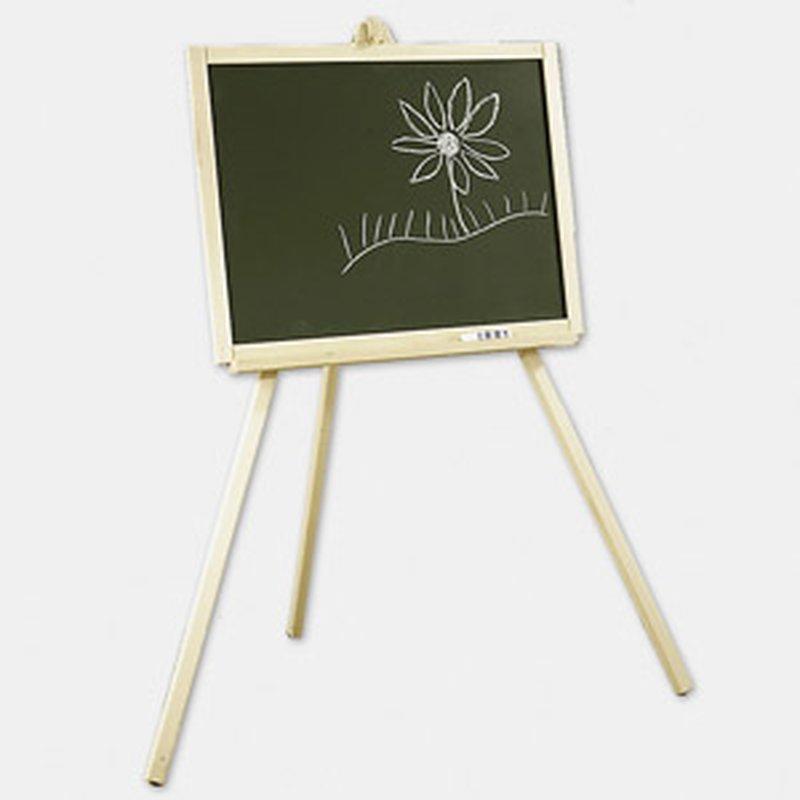 Schreib-Tafel mit Staffelei aus Holz