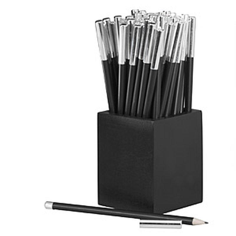 Display 60 Bleistifte ´Silver´ mit Metallkappe ...