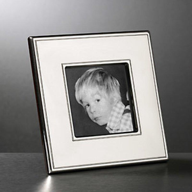 Quadratischer Bilderrahmen aus Sterling-Silber ...