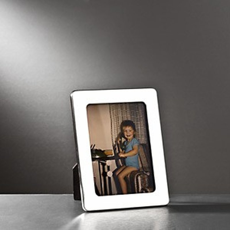 Polierter Bilderrahmen aus Sterling-Silber 9x13