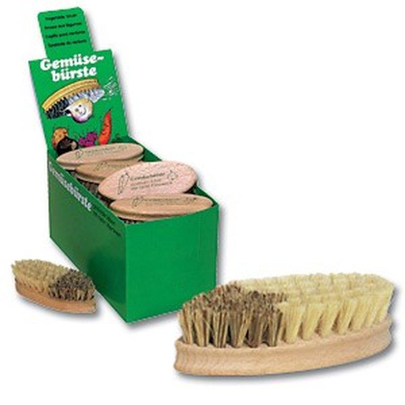 Gemüsebürste und -Putzer aus Buchenholz