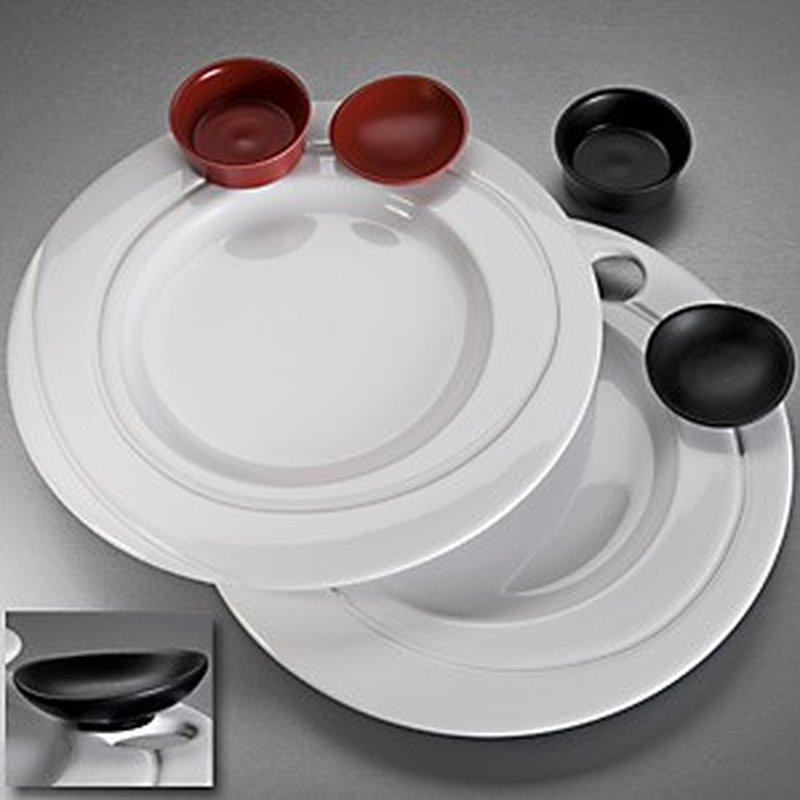 2er Set Speise-Teller ´Orbit´ aus Porzellan